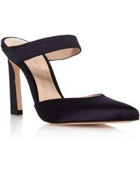 Stuart Weitzman - Women's Eventually Satin Pointed Toe High-heel Mules - Lyst