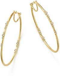 Armenta - 18k Yellow Gold Sueno Diamond Eternity Hoop Earrings - Lyst