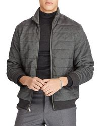 Polo Ralph Lauren - Quilted Mock Neck Jacket - Lyst