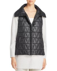 Eileen Fisher - High Collar Puffer Vest - Lyst