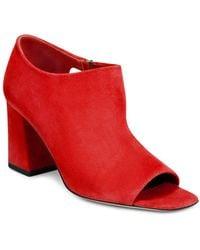 Via Spiga - Women's Eladine Open Toe Block-heel Booties - Lyst