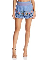 Red Carter - Barra Embroidered Shorts - Lyst