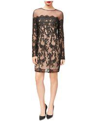 Betsey Johnson - Illusion Lace Sheath Dress - Lyst