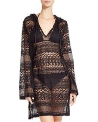 Boho Me - Hooded Mini Dress Swim Cover-up - Lyst
