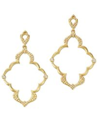 Armenta - 18k Yellow Gold Sueno Dulcinea Diamond Cravelli Earrings - Lyst