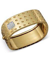 Roberto Coin - 18k Yellow Gold Pois Moi Four Row Diamond Cuff - Lyst