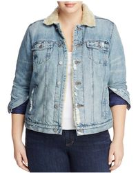 Lucky Brand - Sherpa Trimmed Denim Jacket - Lyst