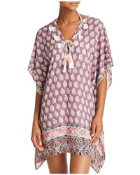 Surf Gypsy - V Neck Tunic Swim Cover-up - Lyst