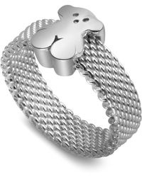Tous - Sterling Silver Small Mesh Ring - Lyst