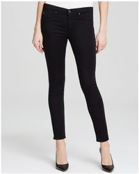 AG Jeans - Legging Ankle Jeans In Black Stretch Sateen - Lyst