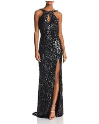 Mac Duggal - Sequined Drape-back Gown - Lyst