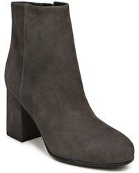 Via Spiga - Women's Maury Suede Block Heel Booties - Lyst