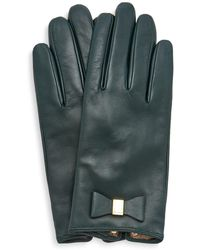 Ted Baker - Betanie Bow Detail Leather Gloves - Lyst