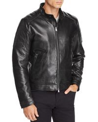 2d2aa277f2a Boss Regular-fit Leather Jacket   arweo  in Black for Men - Lyst