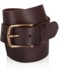 John Varvatos - Leather Belt - Lyst