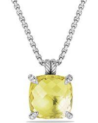 David Yurman | Châtelaine Pendant With Lemon Citrine And Diamonds | Lyst