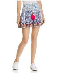 Hemant & Nandita - Embellished Mixed-print Mini Skirt - Lyst