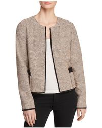 Donna Karan - New York Open-front Tweed Jacket - Lyst