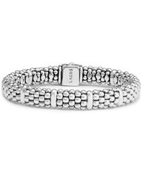 Lagos - Sterling Silver Caviar Beaded Rope Bracelet - Lyst