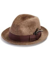 ddf314c539d Bailey Of Hollywood Loche Center Dent Crushed Straw Hat in Brown for ...