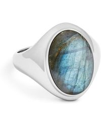 Shinola - Sterling Silver & Labradorite Signet Ring - Lyst