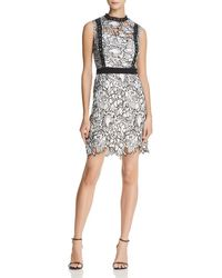 Aqua - Piped Lace Cocktail Dress - Lyst
