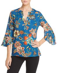 Status By Chenault - Floral Bell Sleeve Blouse - Lyst