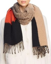 Eileen Fisher - Color Block Fringe Scarf - Lyst