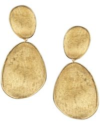 Marco Bicego | 18k Yellow Gold Lunaria Two Drop Earrings | Lyst