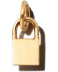 Zoe Chicco 14k Yellow Gold Midi Bitty Padlock Charm - Metallic