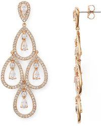 Nadri - Pear Shaped Chandelier Earrings - Lyst