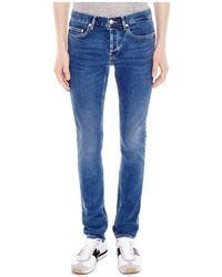 Sandro - Pixies Washed Slim Fit Jeans In Vintage Blue - Lyst