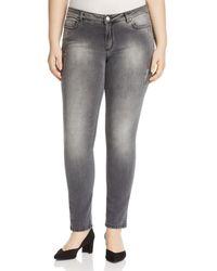 Marina Rinaldi - Igloo Distressed Slim Jeans - Lyst