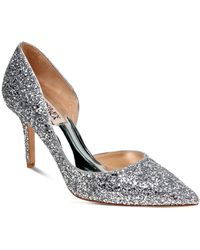Badgley Mischka - Daisy Glitter Half D'orsay Pointed Toe Pumps - Lyst