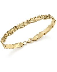 Bloomingdale's - 14k Yellow Gold Wheat Link Stampato Bracelet - Lyst