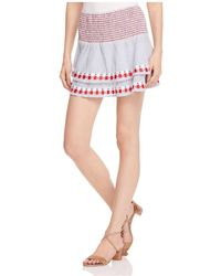 Piper - Smocked Embroidered Skirt - Lyst