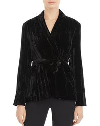 Whistles - Crushed Velvet Jacket - Lyst