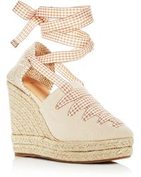 2e6fe60a537 Castaner - Women s Lula Ankle Tie Platform Wedge Espadrille Sandals - Lyst