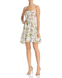 MILLY - Cathy Floral Silk Dress - Lyst
