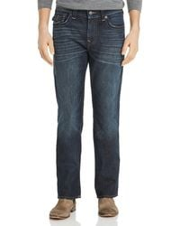 True Religion - Ricky Flap Straight Fit Jeans In Dark Axle - Lyst