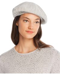 C By Bloomingdale's - Rib-knit Cashmere Beret - Lyst