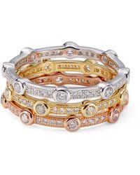 Aqua - 18k Gold-plated Sterling Silver Or 18k Rose Gold-plated Sterling Silver - Lyst