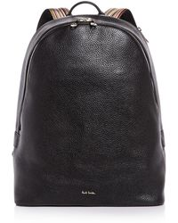 Paul Smith - Multistripe Strap Leather Backpack - Lyst