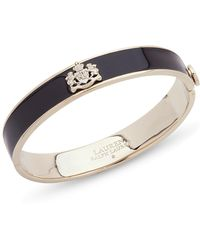 Ralph Lauren - Lauren Logo Crest Bangle Bracelet - Lyst
