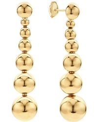Lagos - Caviar Gold Collection 18k Gold Graduated Seven Bead Drop Earrings - Lyst