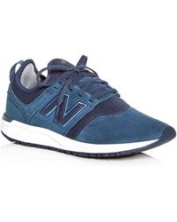 New Balance - Women's 247 Suede Lace Up Trainers - Lyst