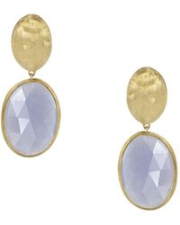 Marco Bicego - 18k Yellow Gold Chalcedony Siviglia Earrings - Lyst