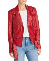 VEDA - Jayne Leather Moto Jacket - Lyst