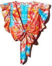 All Things Mochi - Lana Tie - Dye Wrap Top - Lyst