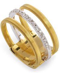 Marco Bicego - 18k Yellow Gold Lunaria Diamond Ring - Lyst